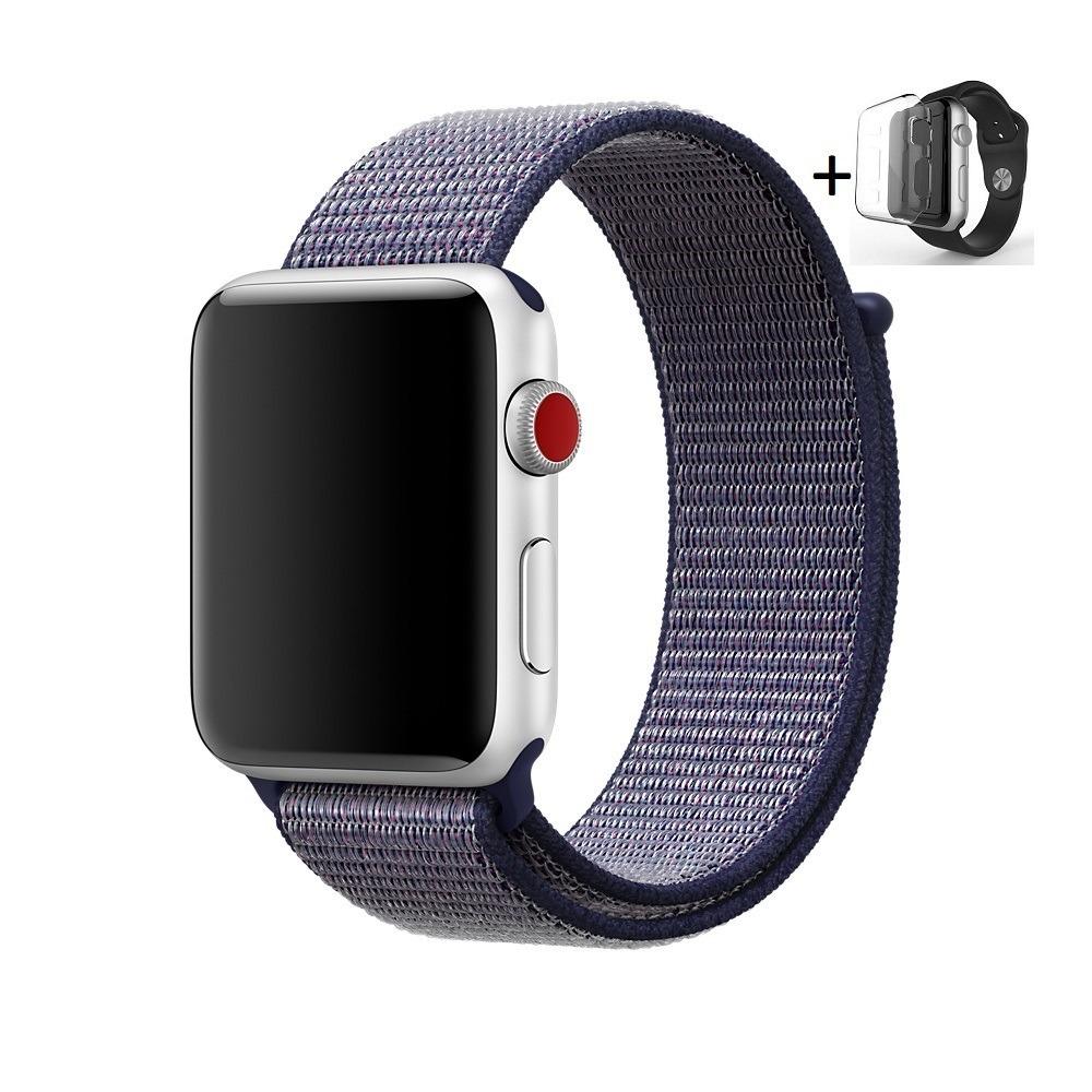 d851933e302 pulseira apple watch nylon loop iwatch 42mm + película. Carregando zoom.