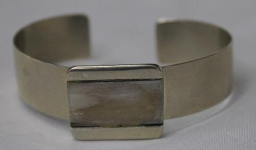 pulseira argentina de alpaca com chifre-cod 8