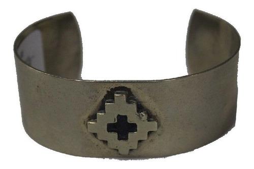 pulseira argentina de alpaca larga-mod flor pampa