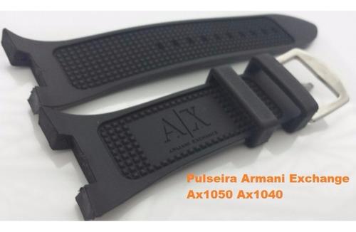pulseira armani adp ax1107 preta p/ exchange ax1185 ax1183