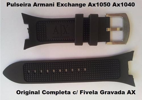pulseira armani adp ax1114 preta p/ exchange ax1089 ax1108