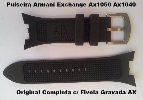 pulseira armani ax1041 exchange ax1068 ax1183 ax1050 preta