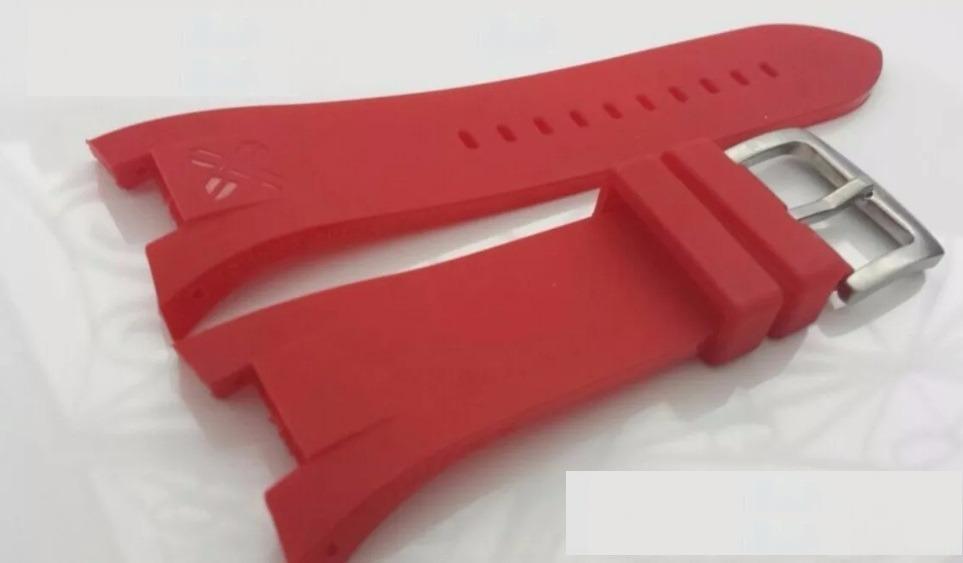 b7842250e24 pulseira armani ax1042 exchange ax1040 adp ax1050 vermelha. Carregando zoom.