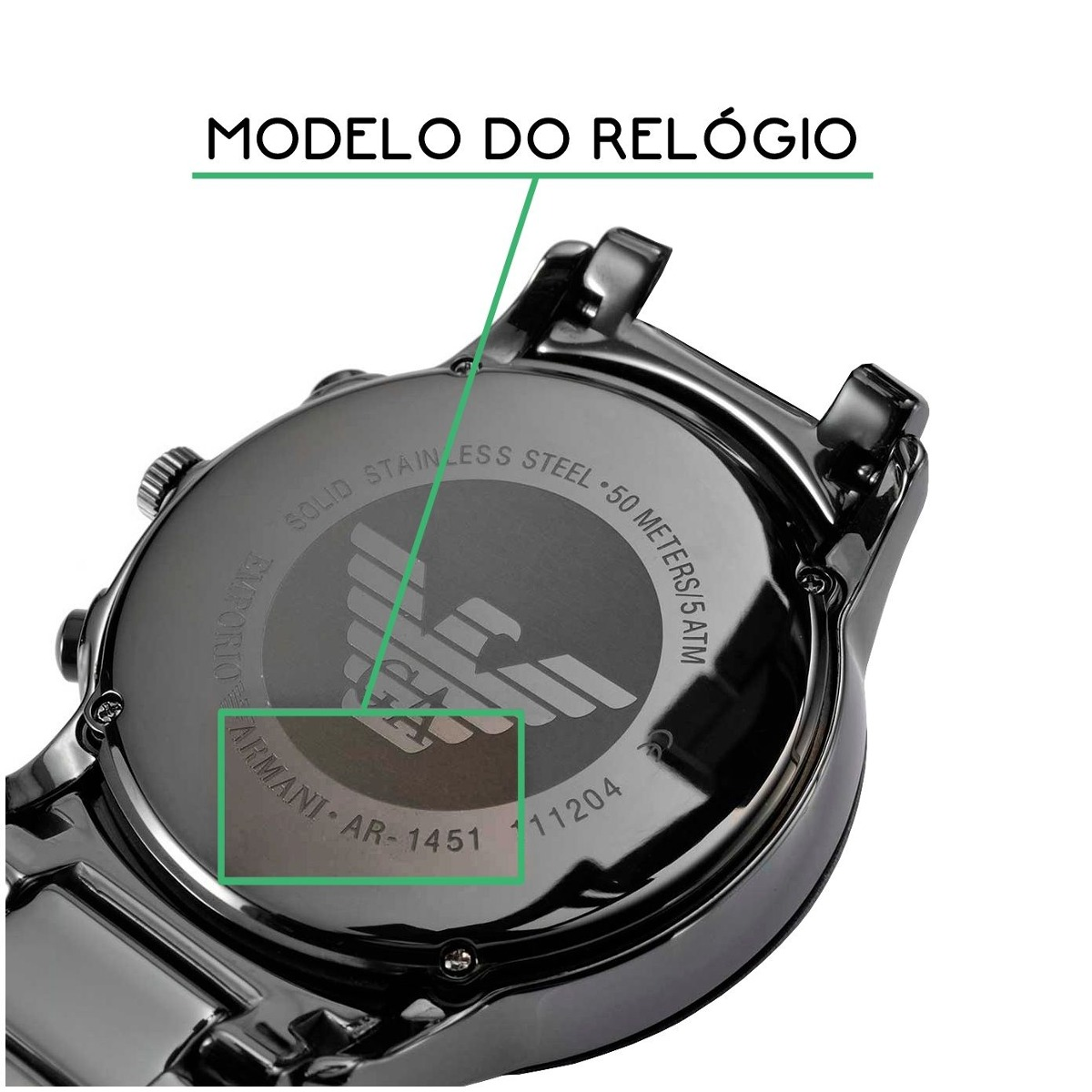 bcb12452132 Pulseira Armani Exchange Ar0828 Preta Borracha 23mm - R  129