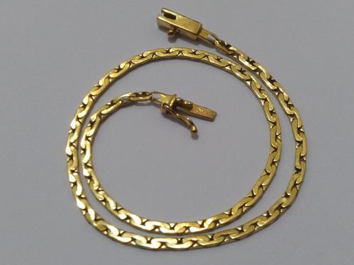 pulseira articulada em ouro 18k, 22 cm, cert garantia.