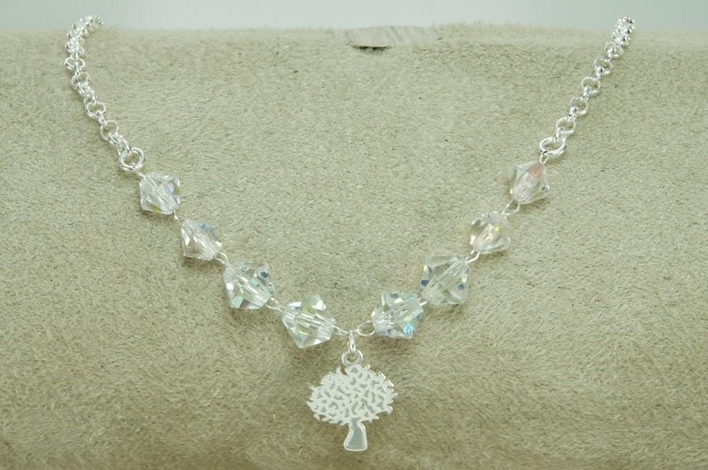 58a792e1accf5 pulseira arvore vida cristais swarovski (00101) prata 925. Carregando zoom.