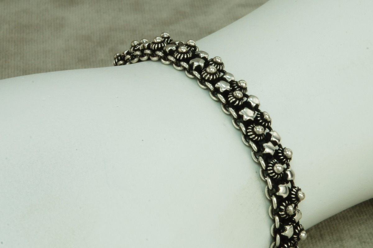 493d348f862 pulseira bali feminina pikun 2 fios estrela (h17) prata 925. Carregando  zoom.