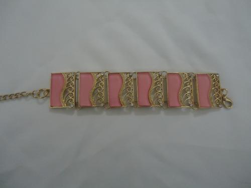 pulseira banhada a ouro semijoia peça exclusiva