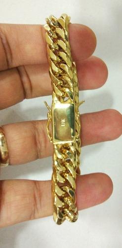pulseira banhada em ouro 18k, grumet com fecho gaveta , top!