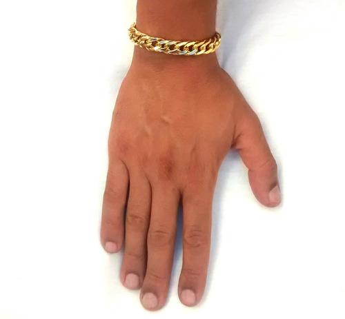 pulseira banhada ouro18k fecho gaveta com banho duplo