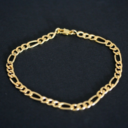 pulseira banho de ouro 3x1 20cm / 5mm