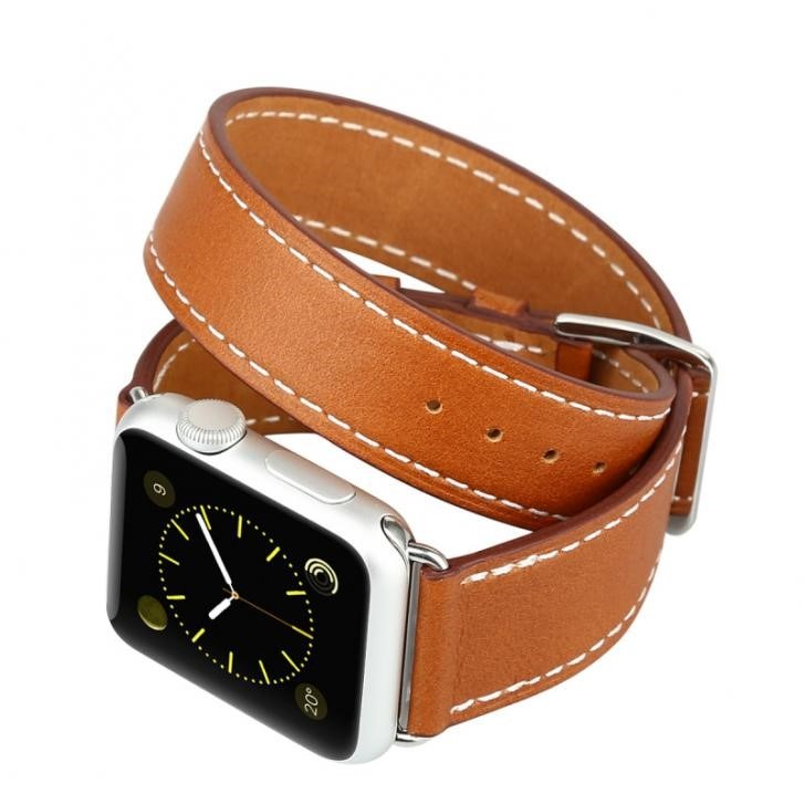 5ab0d4d229e Pulseira Baseus Double Tour Hermès Couro Apple Watch 42mm - R  230 ...