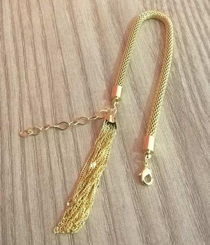 pulseira berloque pedagogia folheado + 1 caixinha veludo
