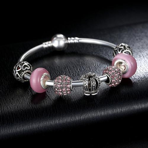 pulseira berloque rígida completa estilo pandora vivara top