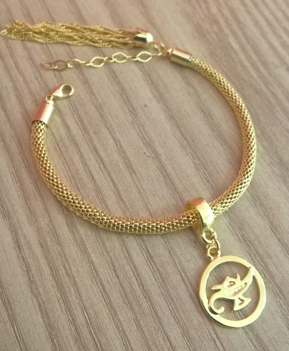 1f0e628cc7754 pulseira berloques enfermagem enfermeira folheado ouro 18k. Carregando zoom.