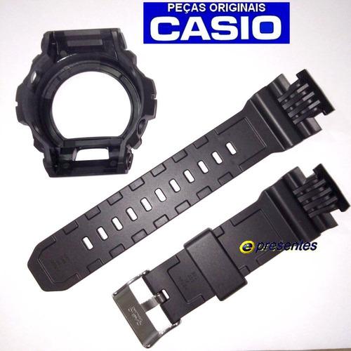 pulseira + bezel casio gd-x6900-7 g-shock preto fosco