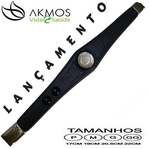 pulseira bioquântica akfit elegance (preta) akmos magnética