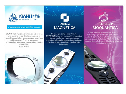 pulseira bioquântica life extreme dr rey - bion action