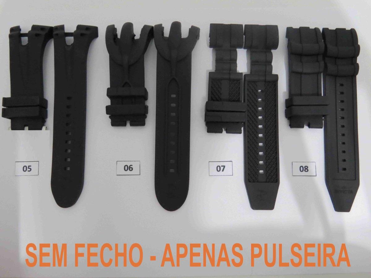 4604a6bdd48 pulseira borracha masculina relógio invicta. Carregando zoom.