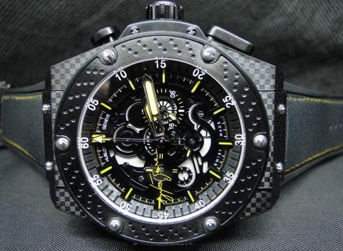 91f4c03db25 Pulseira Borracha P  Relógio Hublot Senna King Power + Chave - R  59 ...