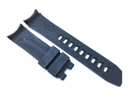 pulseira borracha para relógios omega seamaster 20mm preta