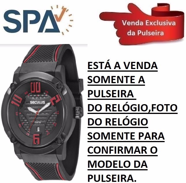 cc29da254a9 Pulseira Borracha Relógio Seculus 20194gpsvpu2 - R  139