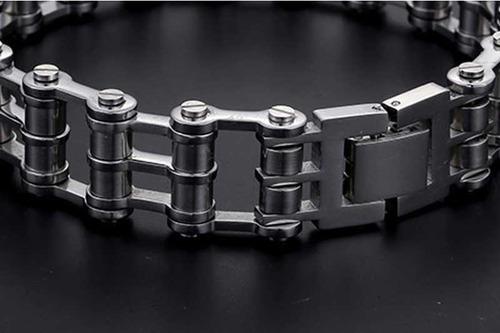 pulseira bracelete aço inoxidável corrente moto motorcycle