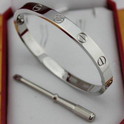 b8fc6bd0410 Pulseira Bracelete Cartier Love Titânio - R  129