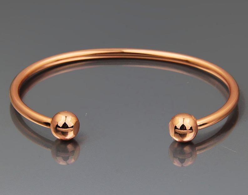 Pulseira Bracelete Cobre Magnética Lisa Ouro Rose Promoção - R  59 ... 443a07e771