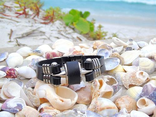 pulseira bracelete couro