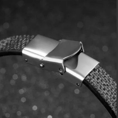 pulseira bracelete couro masculina promoção pronta entrega
