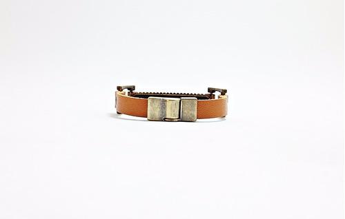 pulseira bracelete de couro masculina