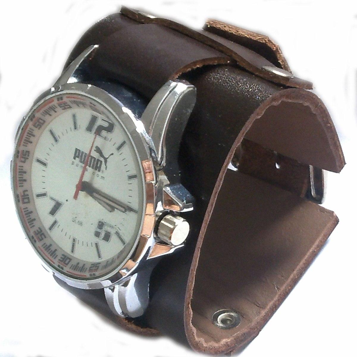 6892d2dfeb7 pulseira bracelete em couro para relógio frete-gratis. Carregando zoom.