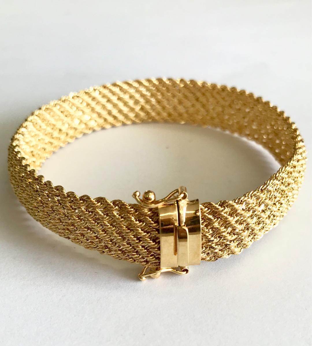 10ee33181b18b Pulseira Bracelete Feminina Corda 13 Mm Ouro 18k 750 - R  3.200,00 ...
