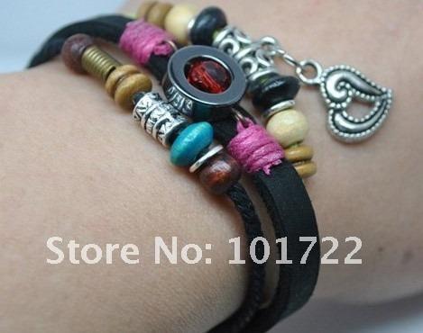pulseira bracelete feminina couro legítimo vários modelos