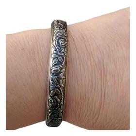Pulseira Bracelete Feminina Prata 925 Rosas