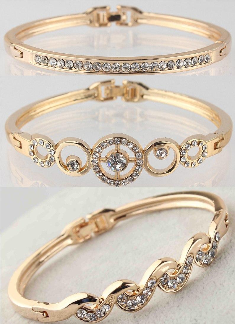 72811044070cc Pulseira Bracelete Feminino Banhado Ouro 18k Gold Filled Carregando Zoom