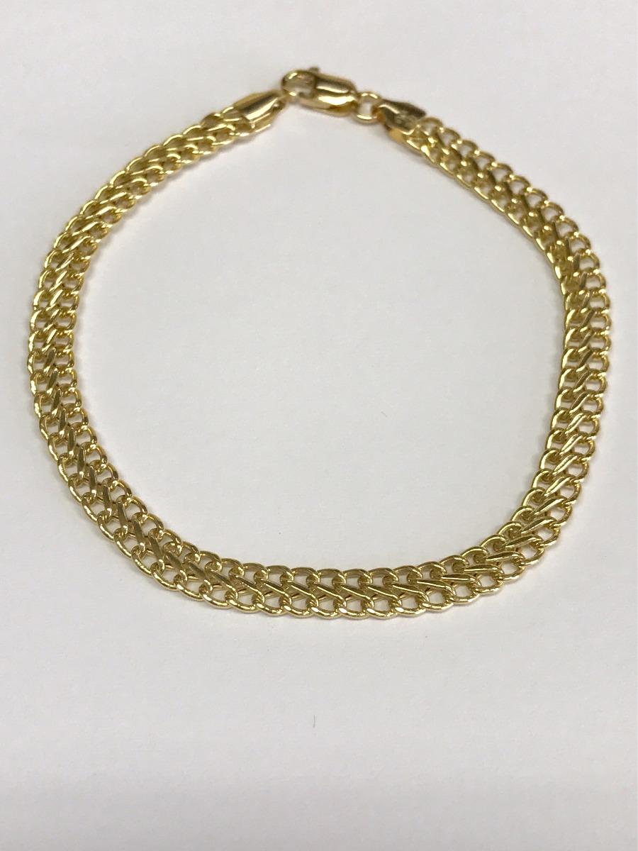 a90a6f8b27c01 Pulseira Bracelete Lacraia Ouro 18k 750 - R  925,00 em Mercado Livre