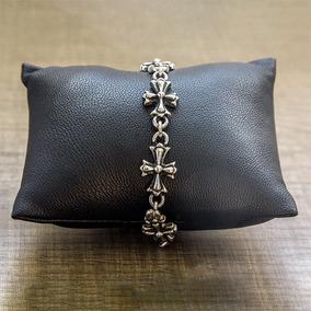 Pulseira Bracelete Masculina Modelo Cruz Em Aço Inox 316l