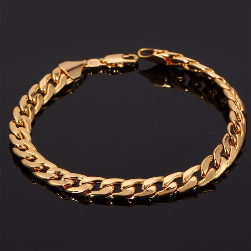 Pulseira Bracelete Masculino Banhada A Ouro 18 K - R  59,99 em ... 70cc059898