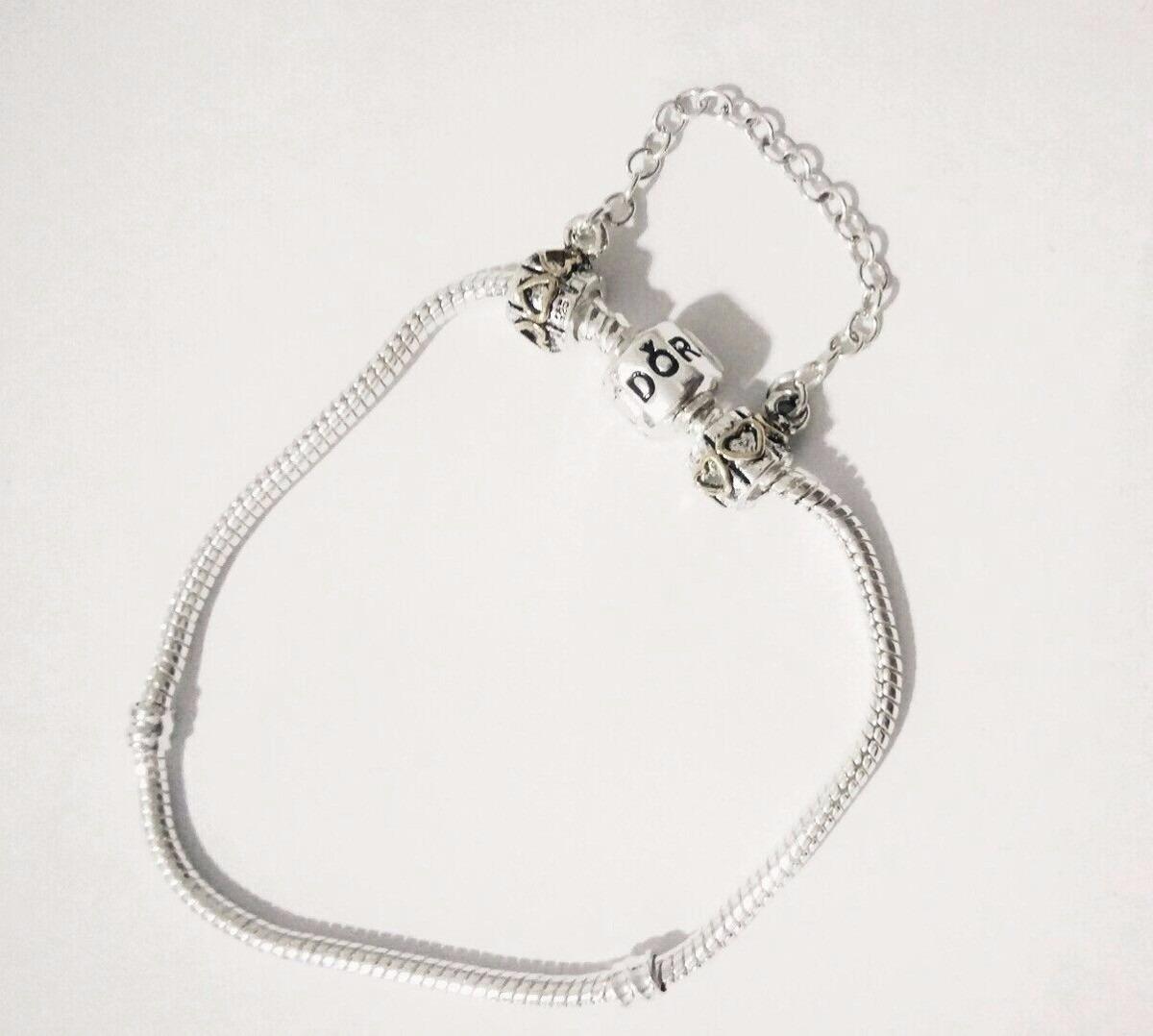 2f44504190b Pulseira Bracelete Pandora + Trava + 1 Berloques - R  25
