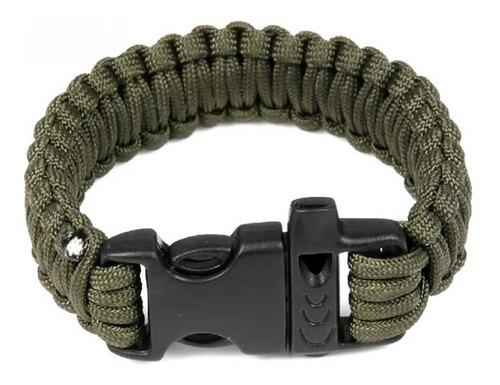 pulseira bracelete paracord sobrevivência tático militar