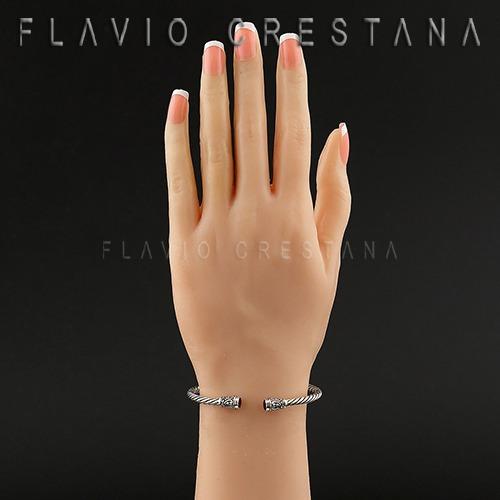 pulseira bracelete, prata 925 com granada natural. indonésia