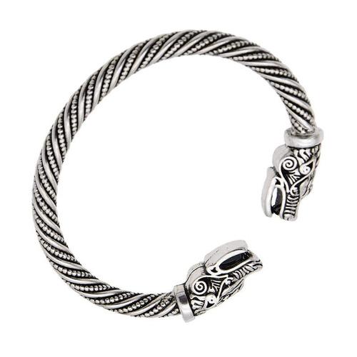 pulseira bracelete prata/dourada viking ragnar qualidade2019