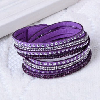pulseira bracelete tipo swarowski slake brilho strass