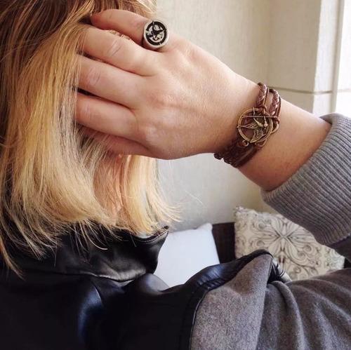 pulseira bracelete tordo jogos vorazes - hunger games