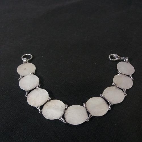 pulseira bracelete usado prata 800 19g maciça anjos