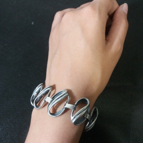 pulseira bracelete usado prata maciça 34 g
