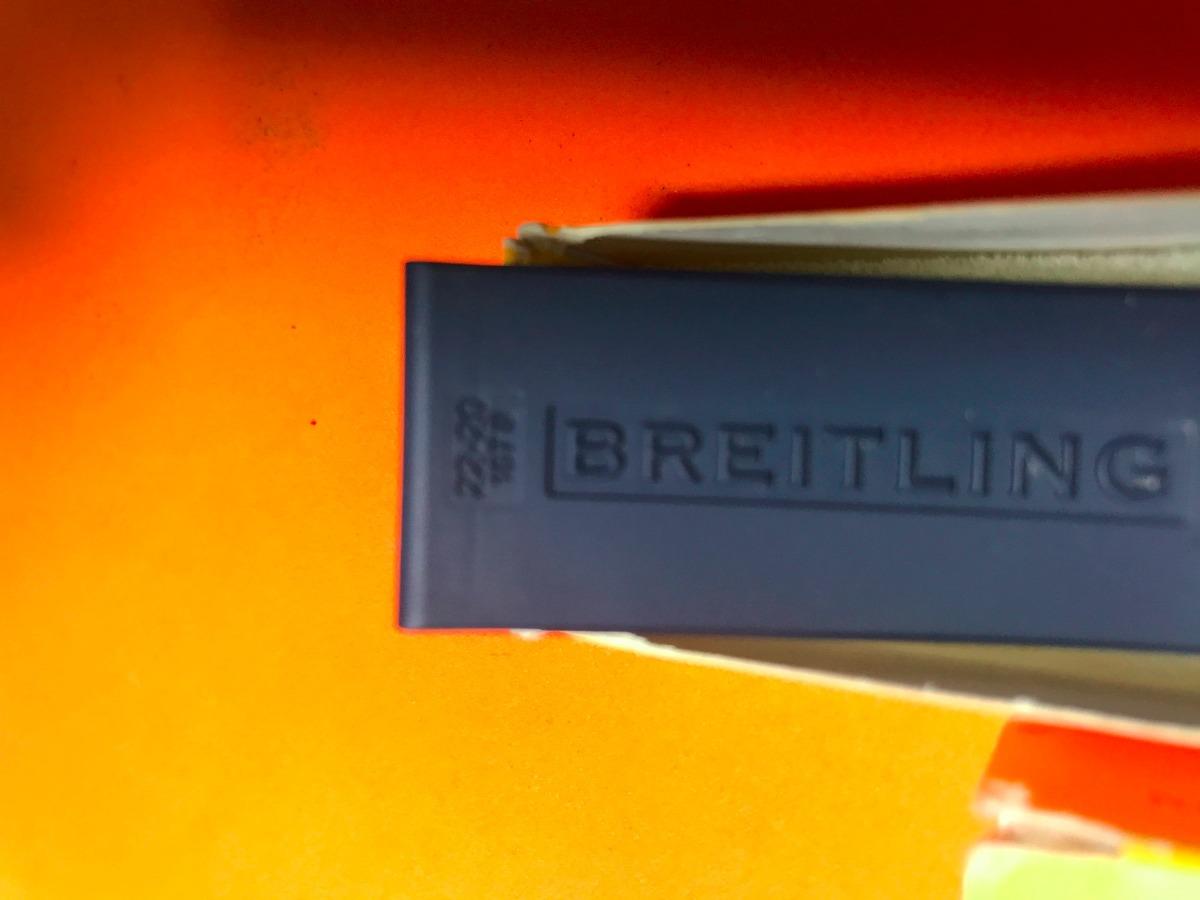71e192ee1ae Pulseira Breitling Borracha Azul Com Fecho Deployant Usada - R ...