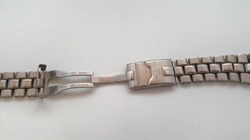 pulseira breitling titânio original 22mm avenger e aerospace